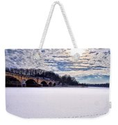 Schuylkill River - Frozen Weekender Tote Bag