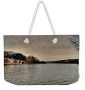 Schuylkill River On A Cloudy Day Weekender Tote Bag by Bill Cannon