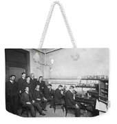 Scientists With Microscopes Weekender Tote Bag