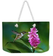Scintillant Hummingbird Selasphorus Weekender Tote Bag