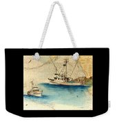 Scooter Fishing Boat Nautical Chart Map Art Weekender Tote Bag