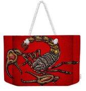 Scorpion On Red Weekender Tote Bag