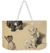 Scotch Terrier And White Westie Weekender Tote Bag
