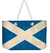 Scotland Flag Vintage Distressed Finish Weekender Tote Bag by Design Turnpike