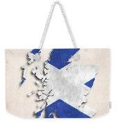Scotland Map Art With Flag Design Weekender Tote Bag