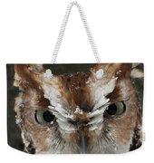 Screech Owl Portrait Weekender Tote Bag