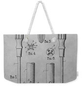 Screwdriver Patent Drawing Weekender Tote Bag
