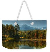 Scripture And Picture Psalm 23 Weekender Tote Bag