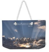 Scripture And Picture Psalm 36 5 Weekender Tote Bag