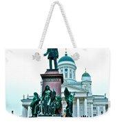 Sculpture Of Alexander II In Cathedral Of Helsinki-finland Weekender Tote Bag