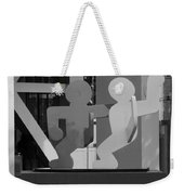 Sculpture On State Street In Black And White  Weekender Tote Bag