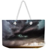 Sculpture - Turquoise Colored Storm Over Kansas Plains Weekender Tote Bag