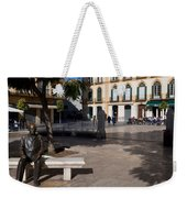 Scupture Of Picasso On The Plaza De La Weekender Tote Bag