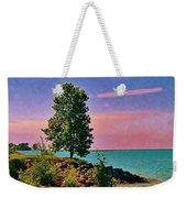 Sea And Tree Weekender Tote Bag