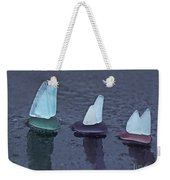 Sea Glass Flotilla Weekender Tote Bag