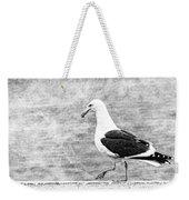 Sea Gull On Wharf Patrol Weekender Tote Bag