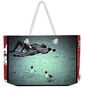 Sea Gulls And Sunbathers Collage Coney Island New York City 1977-2013 Weekender Tote Bag