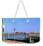 Sea Gulls Watching Over The Wetlands Weekender Tote Bag