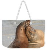 Sea Lions In Love Weekender Tote Bag