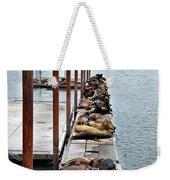 Sea Lions Sleeping Weekender Tote Bag by Robert Bales