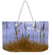 Sea Oats Agaist A Blue Sky Weekender Tote Bag