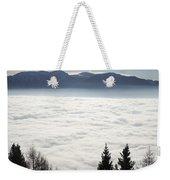 Sea Of Fog And Alps Weekender Tote Bag