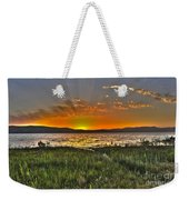 Sea Of Galilee Sunset Weekender Tote Bag