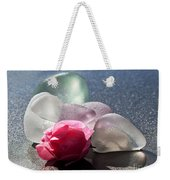 Sea Rose Weekender Tote Bag by Barbara McMahon