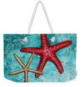 Sea Shore Original Coastal Painting Colorful Starfish Art By Megan Duncanson Weekender Tote Bag