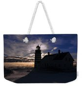 Sea Smoke At West Quoddy Head Lighthouse Weekender Tote Bag