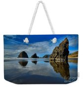 Sea Stack Blues Weekender Tote Bag by Adam Jewell