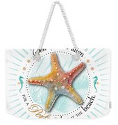Sea Stars Align For A Perfect Day At The Beach Weekender Tote Bag by Amy Kirkpatrick