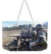 Seabees Fire The M2 .50-caliber Machine Weekender Tote Bag