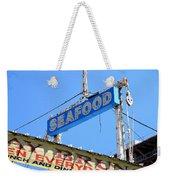 Seafood Sign Weekender Tote Bag