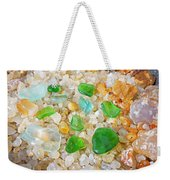 Seaglass Green Art Prints Agates Beach Garden Weekender Tote Bag