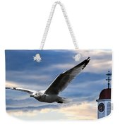 Seagull And Clock Tower Weekender Tote Bag by Bob Orsillo
