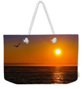 Seagull At Sunset Weekender Tote Bag