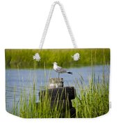 Seagull At Weeks Landing Weekender Tote Bag