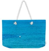 Seagull Cruising Over Azure Blue Sea Weekender Tote Bag