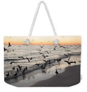 Seagulls Feasting Weekender Tote Bag