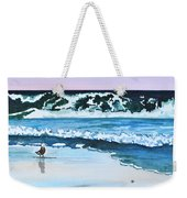 Seagull In The Sand Weekender Tote Bag
