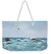 Seagull Over The Ocean Weekender Tote Bag