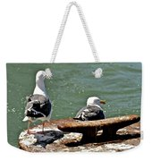Seagulls Against Rust Weekender Tote Bag