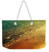 Seagulls At Sunset Weekender Tote Bag