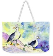 Seagulls In Calpe In Spain Weekender Tote Bag