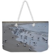 Seagulls On The Delaware Bay Weekender Tote Bag by Bill Cannon