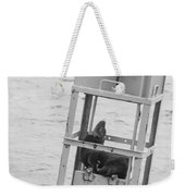 Seal Hammock Black And White Weekender Tote Bag