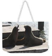 Sealion Discussion Weekender Tote Bag