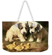 Sealyham Puppies And Ducklings Weekender Tote Bag