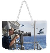 Seaman Apprentice Stands Watch Aboard Weekender Tote Bag